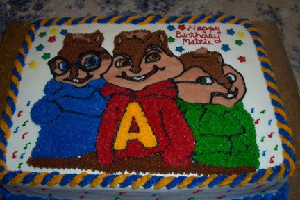 Alvin And The Chipmunks Birthday Cake With Images Alvin And