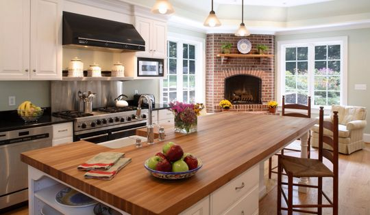 The Ultimate Cozy Kitchen Fireplaces Kitchen