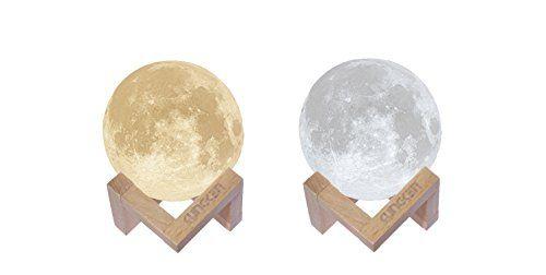 Kungken Rechargeable 3d Printing Moon Lamp Touch Switch L Https Www Amazon Com Dp B01frcjdsu Ref Cm Sw R Pi Dp U X Mood Lamps Moon Light Lamp Night Light