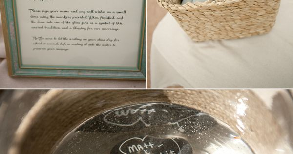 Irish stone blessing makes for a unique wedding idea! Guests write something
