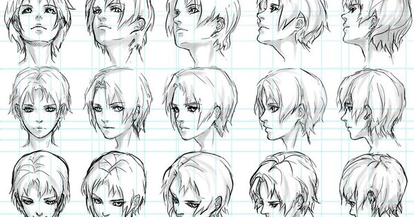 Character Design Chart : Head perspective chart character design references