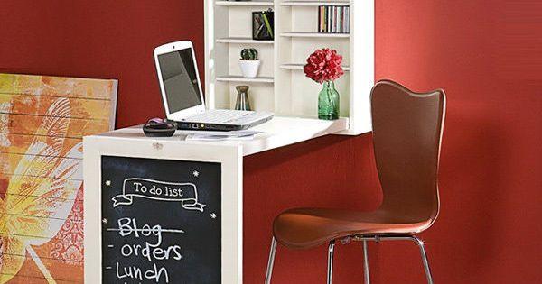 wall mounted desk folding table home furniture space. Black Bedroom Furniture Sets. Home Design Ideas