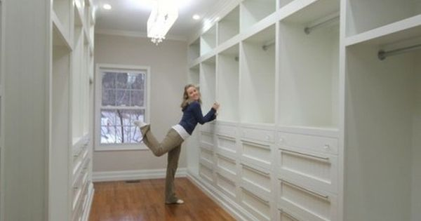 Serious Closet Envy: Master Closet by sawdustandpaperscraps who even included a built in iron and a rolling ladder! I will have this in my dream house someday..
