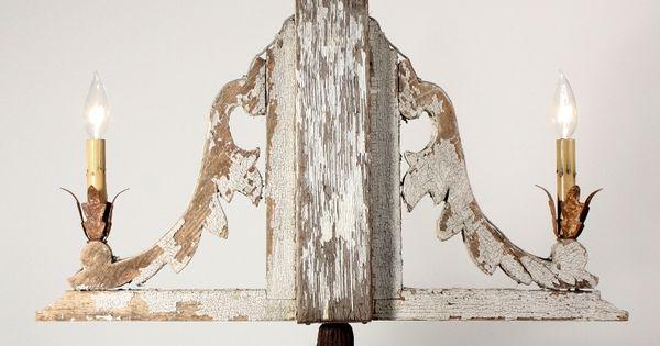 Fantastic Antique Corbels Repurposed As Two Light