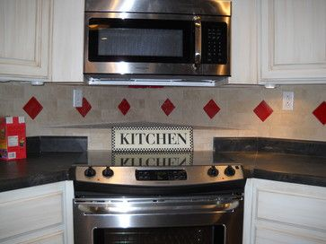 Kitchen Backsplash Ideas With Red Backsplash With Red Accent