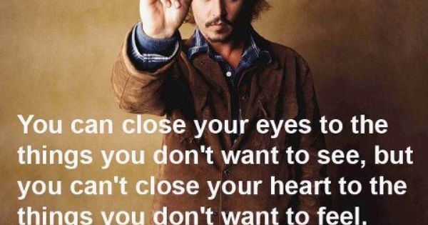 Johnny Depp! It's so true