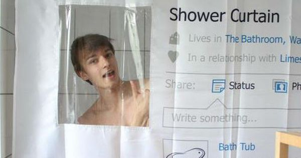 Social Shower Curtain. I Want One. Donu0027t Need It. Just Want It. LoL. | My  Smiles U0026 Giggles | Pinterest | Jokes, Facebook And Too Cute