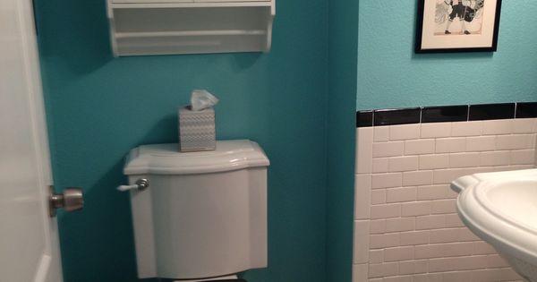 Tiffany blue aqua bathroom with subway tile bathroom ideas pinterest aqua bathroom - Tiffany blue bathroom ideas ...