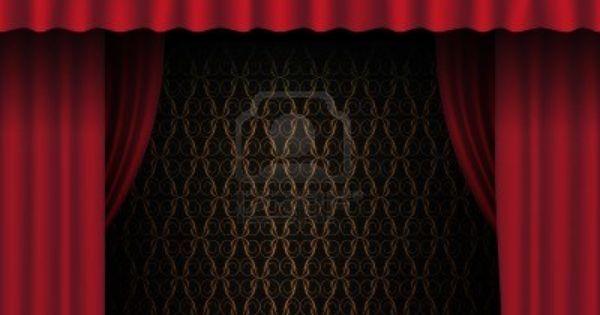 Cortina roja teatro   vintage wallpaper en segundo plano foto de ...