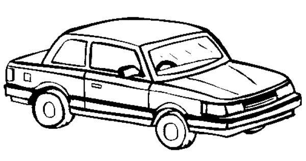 classic car corvette coloring page