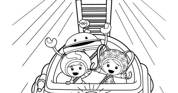Team Umizoomi Milli Geo Bot and Umi Car coloring page Coloring pages Pinterest Craft