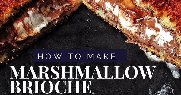 This Nutella and marshmallow brioche toastie recipe is ...