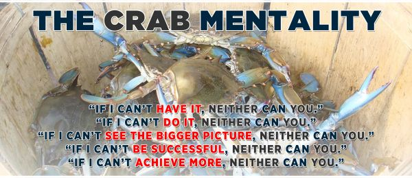 """""""Crabs In A Bucket"""" As An Analogy For Modern Human Society"""