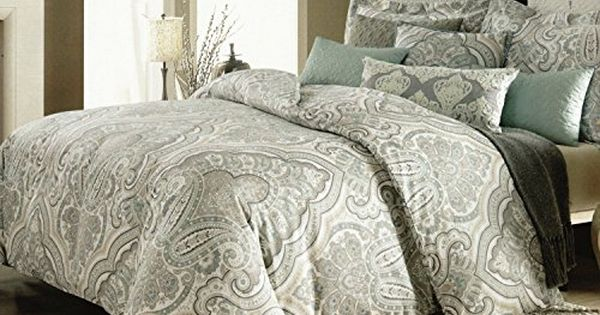 Nicole Miller Home Duvet Cover 3 Piece Set Paisley