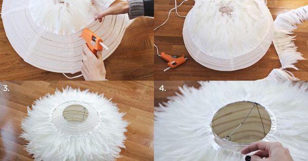 luminaire en plumes lanternes en papier nouveaux m tiers et recherche. Black Bedroom Furniture Sets. Home Design Ideas