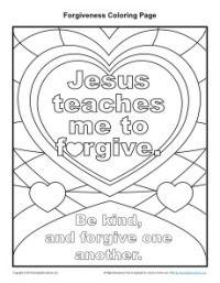 Jesus Teaches Me To Forgive Printable Coloring Page Sunday School Coloring Pages Sunday School Activities School Coloring Pages