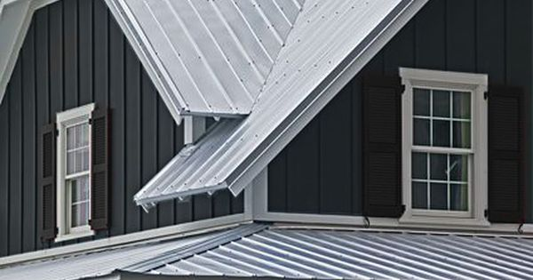 Dark Exterior With Galvanized Roof Metal Roof Houses Exterior Paint Colors For House Exterior House Colors