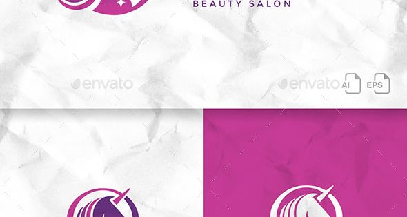 Unicorn Logo Template – Animals Logo for beauty salon