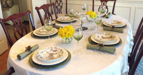 Easter dining table 2015 sophiethebunny pier1lovecontest easter