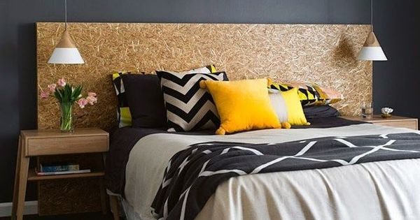 facile et contemporaine on peut se faire un t te de lit en quelques minutes avec un panneau de. Black Bedroom Furniture Sets. Home Design Ideas