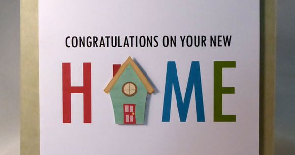Congratulations On Your New Home Greeting Card By
