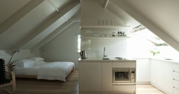 Peaked roof garage loft studio apartment http www for Garage studio apartment ideas