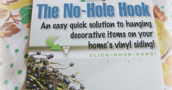 Hooks So You Can Hang Things On Your Vinyl Siding