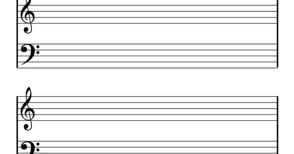 notenpapier klavier  musik für kinder notenpapier und