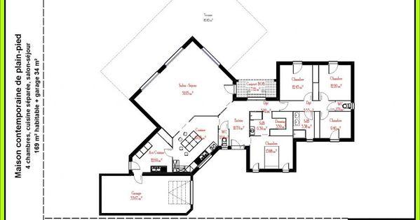 Plans 3d nouveau projet plain pied pinterest plans for Projet maison 3d