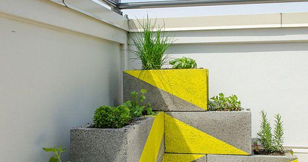 Maceteros con bloques de cemento decoraci n para el for Bloques cemento para jardin