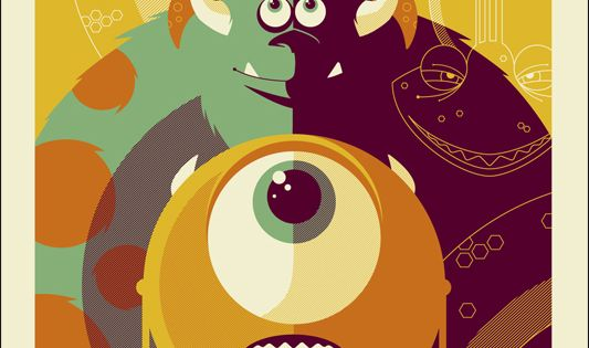 Credits: Monsters Inc. Poster Design by (©) Tom Whalen / Via Van