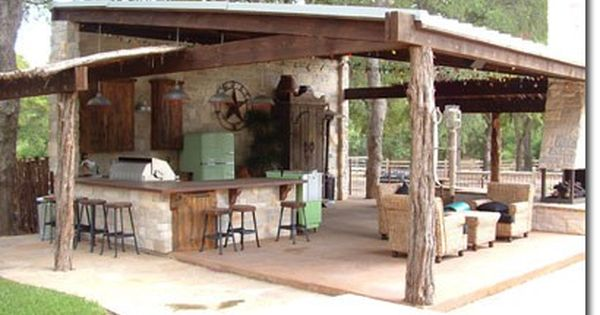 Rustic potting shed party shed backyard pinterest for Outdoor summer kitchen ideas
