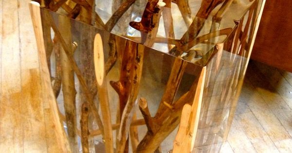 Branches in resin. -I don't know if I could ever pull this