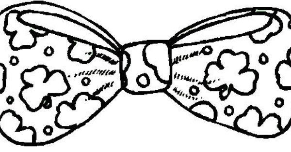 St Patrick S Day Bow Tie Coloring Page Coloring Pages Color Bow Tie Template