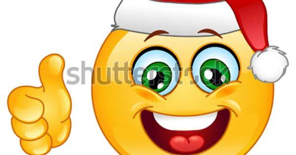 Christmas Emoticon Thumb Stock Vector Royalty Free 65271628 In 2020 Funny Emoticons Christmas Emoticons Smiley Emoji