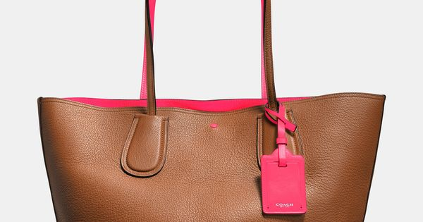 C.O.A.C.H. Taxi Tote in Double Faced Pebble Leather Coach Handbags