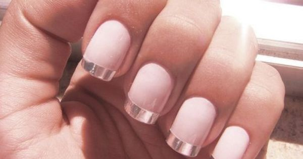 Metallic French Manicure Metallic French Manicure
