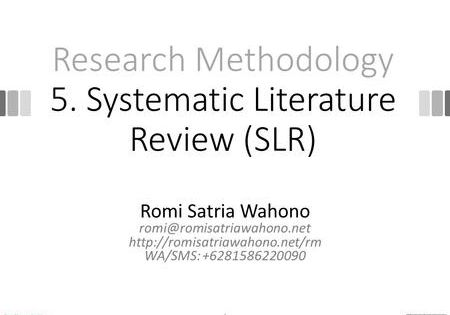 Research Methodology 5 Systematic Literature Review Slr Research Literature Research Proposal