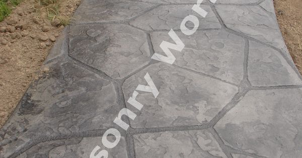 River Rock Stamped Concrete Pattern Stamped Concrete