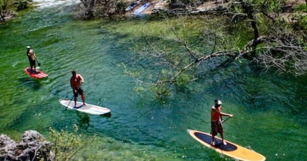 Austin, tx Paddleboarding. Lady Bird Lake in Austin, Texas