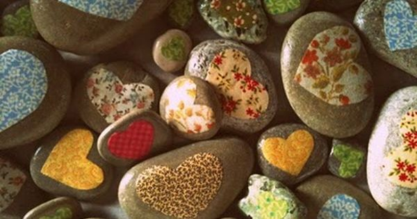 Cute idea for Mother's Day; Love Rocks - couldn't find directions but