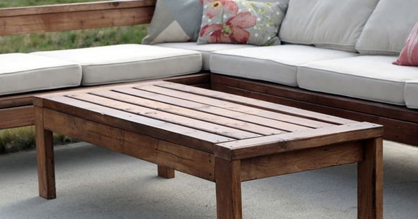 2x4 outdoor coffee table ana white outdoor coffee for Coffee tables 2x4