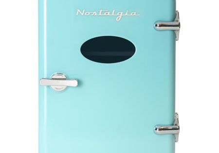 Nostalgia Rf6rraq Retro 6 Can Personal Cooling And Heating Refrigerator With Carry Handle For Home Office Car Boat Or Dorm Room Includes Ac Dc Power Cords Aqua