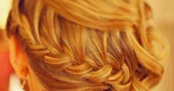 Side Braid With Loose Curls paulmitchell pmtslombard bridal wedding sidebraid braid cascadingcurls