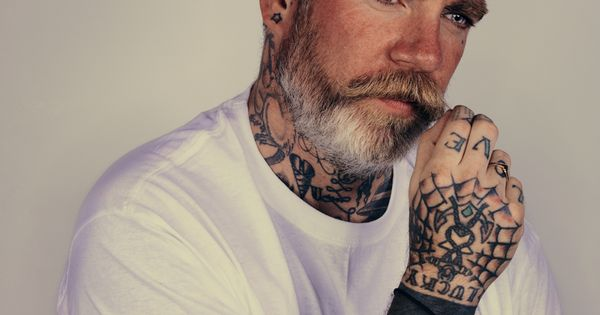 I Want my husband to be this cool old tattooed guy..