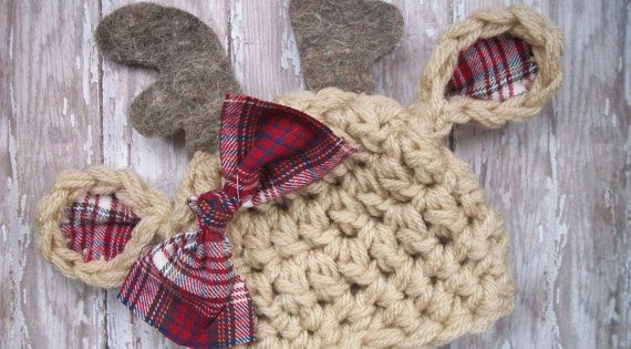 Reindeer Baby Hat