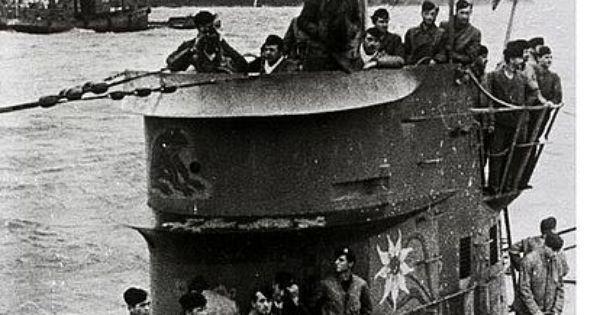 """German submarine U-124 (nickname """"Edelweisseboot"""") was a ..."""