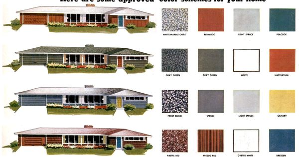 Modern exterior paint colors for houses mid century modern colors and mid century modern - Virtual paint your house exterior minimalist ...
