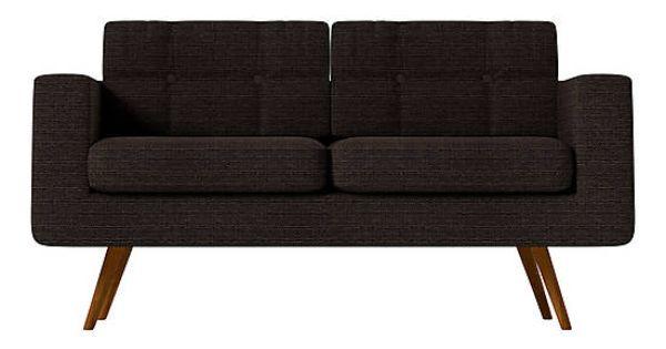 Canap bouleau et polyester noir l143 canap sofa - Chaise rock bobois leer ...