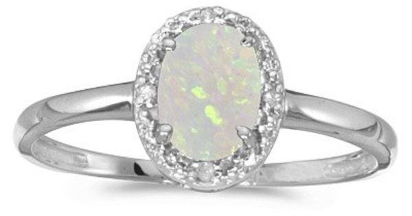 Opal Rings Engagement Rings Opal White Gold Gemstone Ring Opal Rings